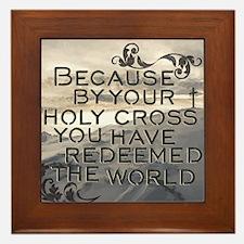 Your Holy Cross Framed Tile