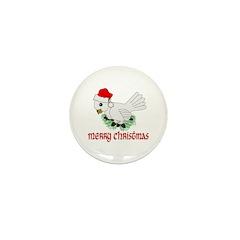 Santa Bird Mini Button (10 pack)