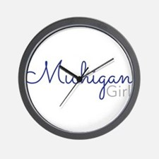Michigan Girl Wall Clock