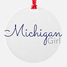 Michigan Girl Ornament