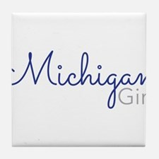 Michigan Girl Tile Coaster