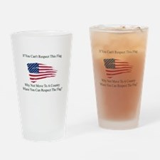 Respect The Flag Drinking Glass