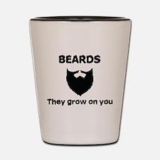 Beards Shot Glass