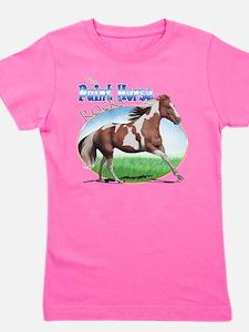 Cute Tobiano paint horse Girl's Tee
