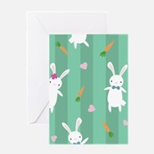 Cute Rabbits Greeting Cards