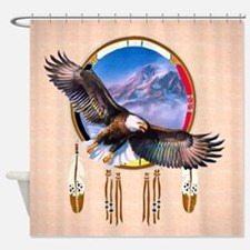 Flying Eagle Shield Shower Curtain