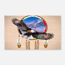 Flying Eagle Shield Area Rug