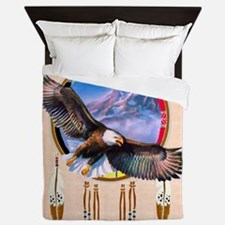 Flying Eagle Shield Queen Duvet