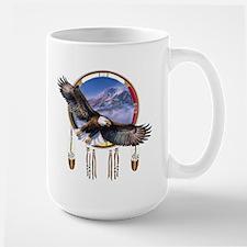 Flying Eagle Shield Large Mug Mugs