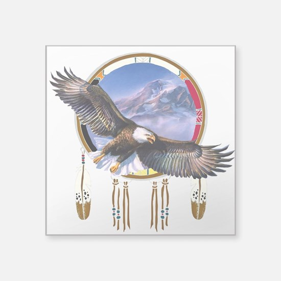 """Flying Eagle Shield Square Sticker 3"""" X 3&quo"""