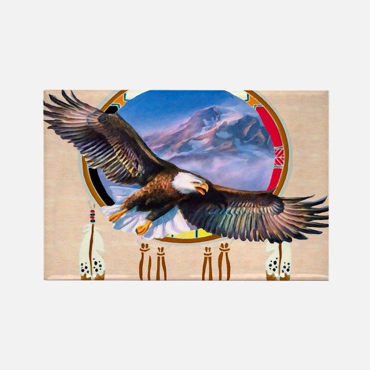 Flying Eagle Shield Rectangle Magnet