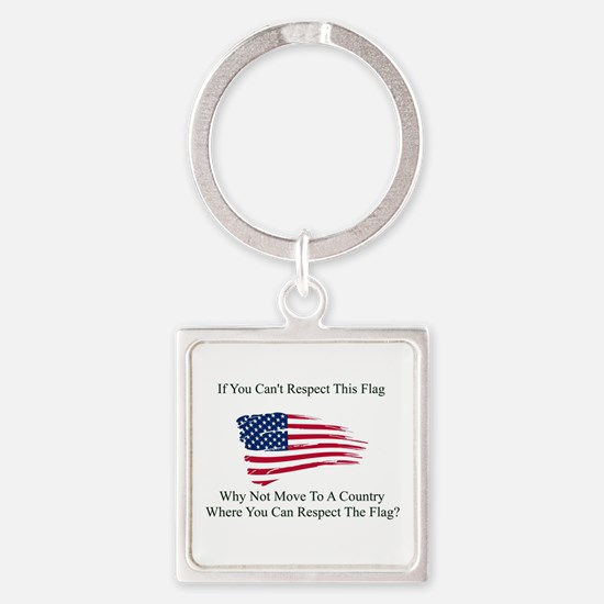 Respect The Flag Keychains