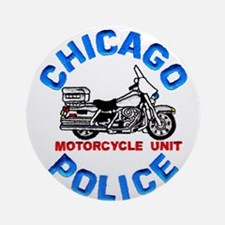 Chicago PD Motor Unit Ornament (Round)