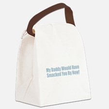 Daddy Smack Blue Canvas Lunch Bag