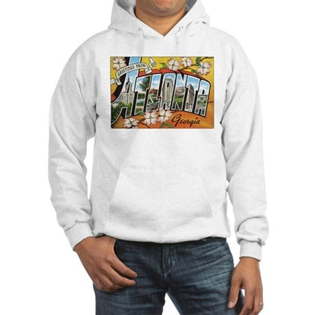Atlanta Georgia Postcard Hooded Sweatshirt