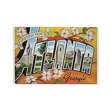 Atlanta Georgia Postcard Rectangle Magnet