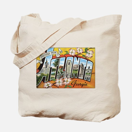 Atlanta Georgia Postcard Tote Bag