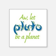 "Cute Planet Square Sticker 3"" x 3"""