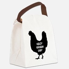 Cute Lady Canvas Lunch Bag