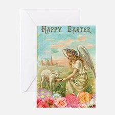 happy easter angel Greeting Cards