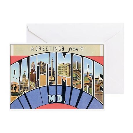 Baltimore Maryland Postcard Greeting Card
