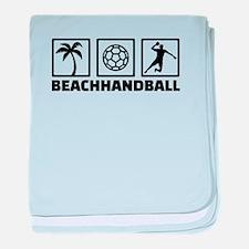 Beachhandball baby blanket
