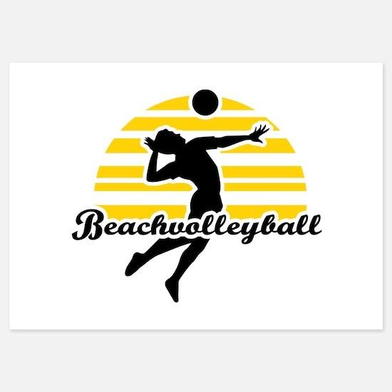 Beachvolleyball 5x7 Flat Cards