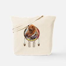 Fishing Bear Shield Tote Bag