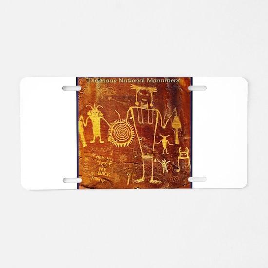 Ancient Drawings Aluminum License Plate