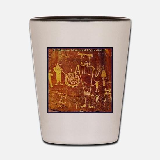 Ancient Drawings Shot Glass