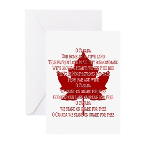Canada Anthem Souvenir Greeting Cards (Pk of 20)