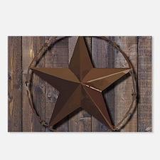 western barnwood texas st Postcards (Package of 8)