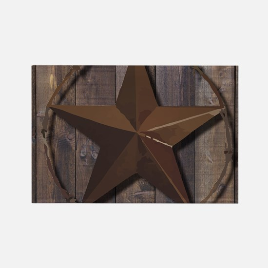 western barnwood texas star Magnets