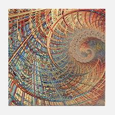 Rollercoaster 2 Fine Fractal Tile Coaster