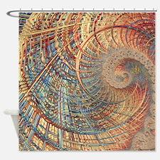 Rollercoaster 2 Fine Fractal Shower Curtain