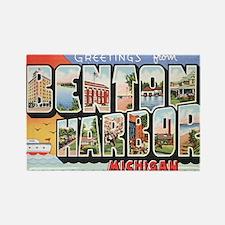 Benton Harbor Postcard Rectangle Magnet