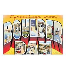 Boulder Dam Postcard Postcards (Package of 8)