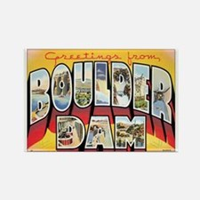 Boulder Dam Postcard Rectangle Magnet