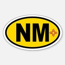 New Mexico Flag Oval Decal