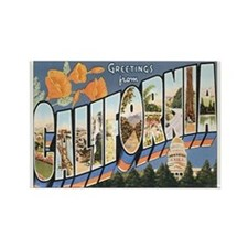 California Postcard Rectangle Magnet
