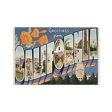 California Postcard Rectangle Magnet