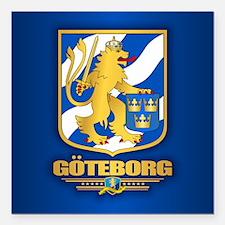 """Goteborg Square Car Magnet 3"""" x 3"""""""