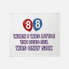 88 year old dead sea designs Throw Blanket