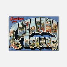 Catalina Island Postcard Rectangle Magnet