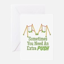 Need A Push Greeting Cards