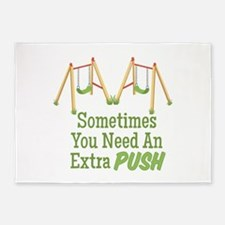 Need A Push 5'x7'Area Rug