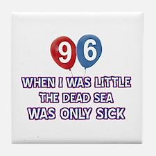 96 year old dead sea designs Tile Coaster