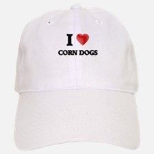 I love Corn Dogs Baseball Baseball Cap