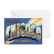 Chicago Postcard Greeting Card