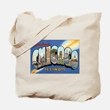 Chicago Postcard Tote Bag